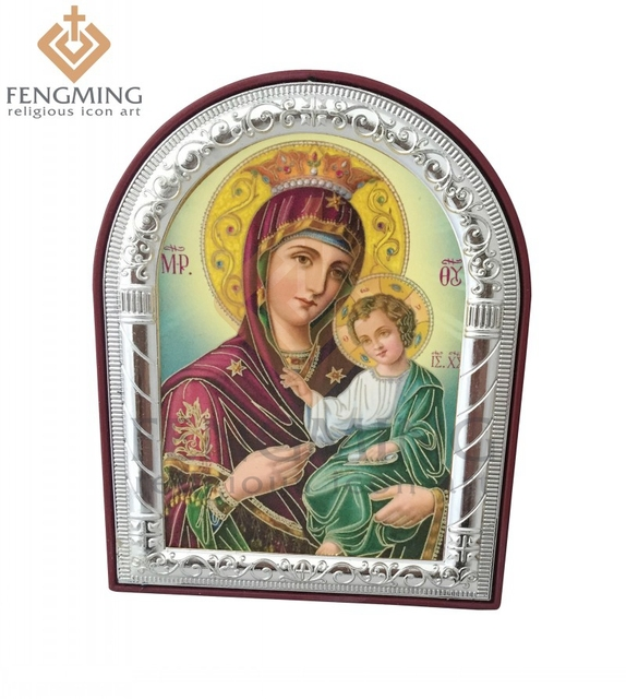 can custom christian symbols plastic frame metal silver gold mary mother of jesus greek religious icons - Mother Picture Frame
