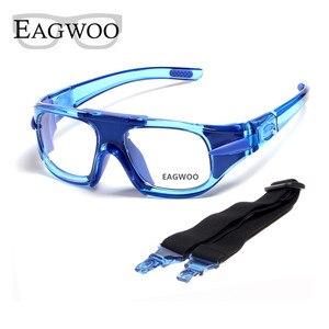 Image 4 - Eagwoo למבוגרים חיצוני ספורט כדורסל כדורגל משקפיים כדורעף טניס משקפי להסרה מקדש מרשם עדשות עביד