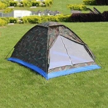 легкая походная палатка | (Корабль из России/Китая) Однослойная 2 человека водонепроницаемая камуфляжная походная палатка легкая дорожная рыболовная палатка