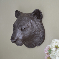 Jaguar Tiger Head Wall Hangings Home Decorations Ornaments Resin Nordic Europe Retro Minimalist Style Cafe Bar
