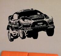 Arte Da Parede Adesivo de Carro de rali Veículo Vinil Esportes Menino Mural Room Decor Decal