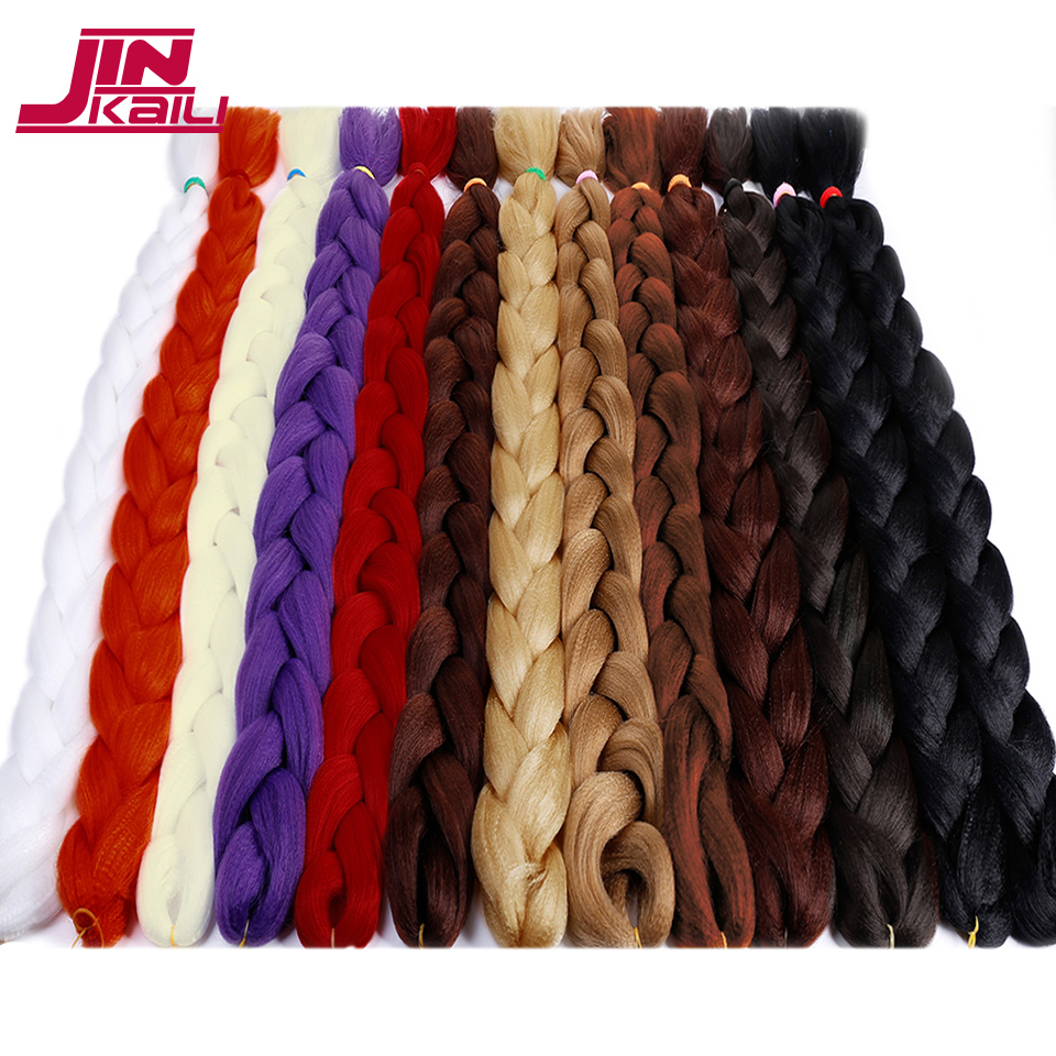 Candid Braid Bulk 82inch 165g Crochet Kanekalon Braiding Hair Jumbo African Hair Style Crochet Hair Extensions Jinkaili Wig Good Heat Preservation