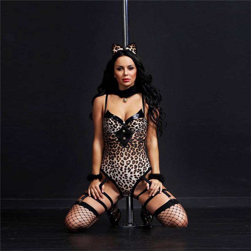 Women Cosplay Lingerie Sexy Hot Erotic Catgirl Cosplay Sexy Costumes Underwear Babydoll Tenue Sexy Erotic Lingerie PornoCostumes in Babydolls Chemises from Novelty Special Use
