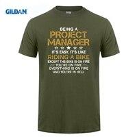 GILDAN Werk Quotes Project Manager Zwarte van Kawaii Formele Homme Uitverkoop S ~ 3xl Heren Tshirt Katoen Online winkelen Koop