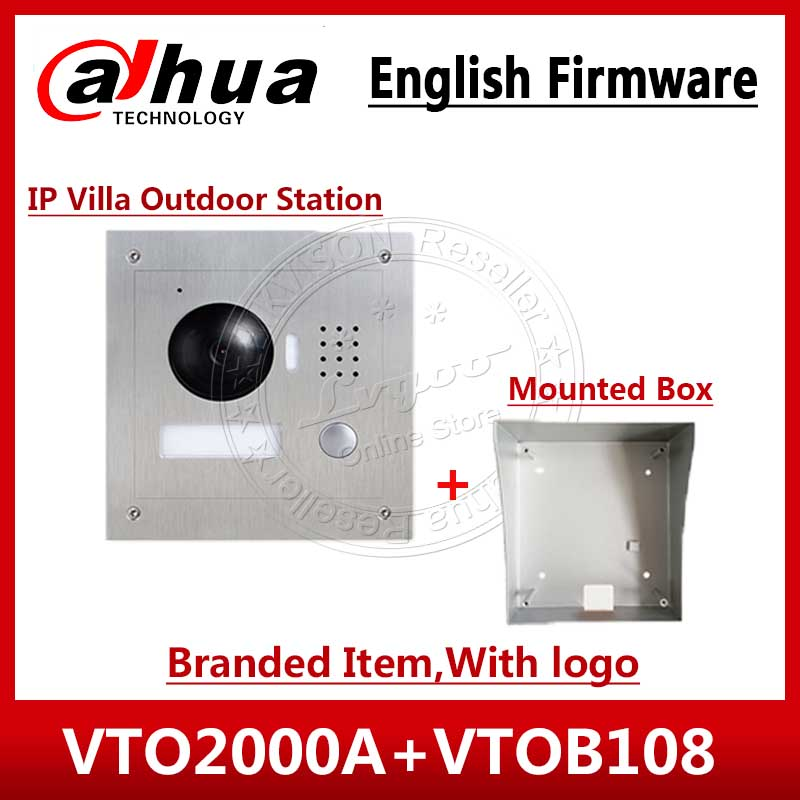 DAHUA 1 3MP Video Door Phone VTO2000A POE P2P Metal Villa Outdoor Station With Logo Remote