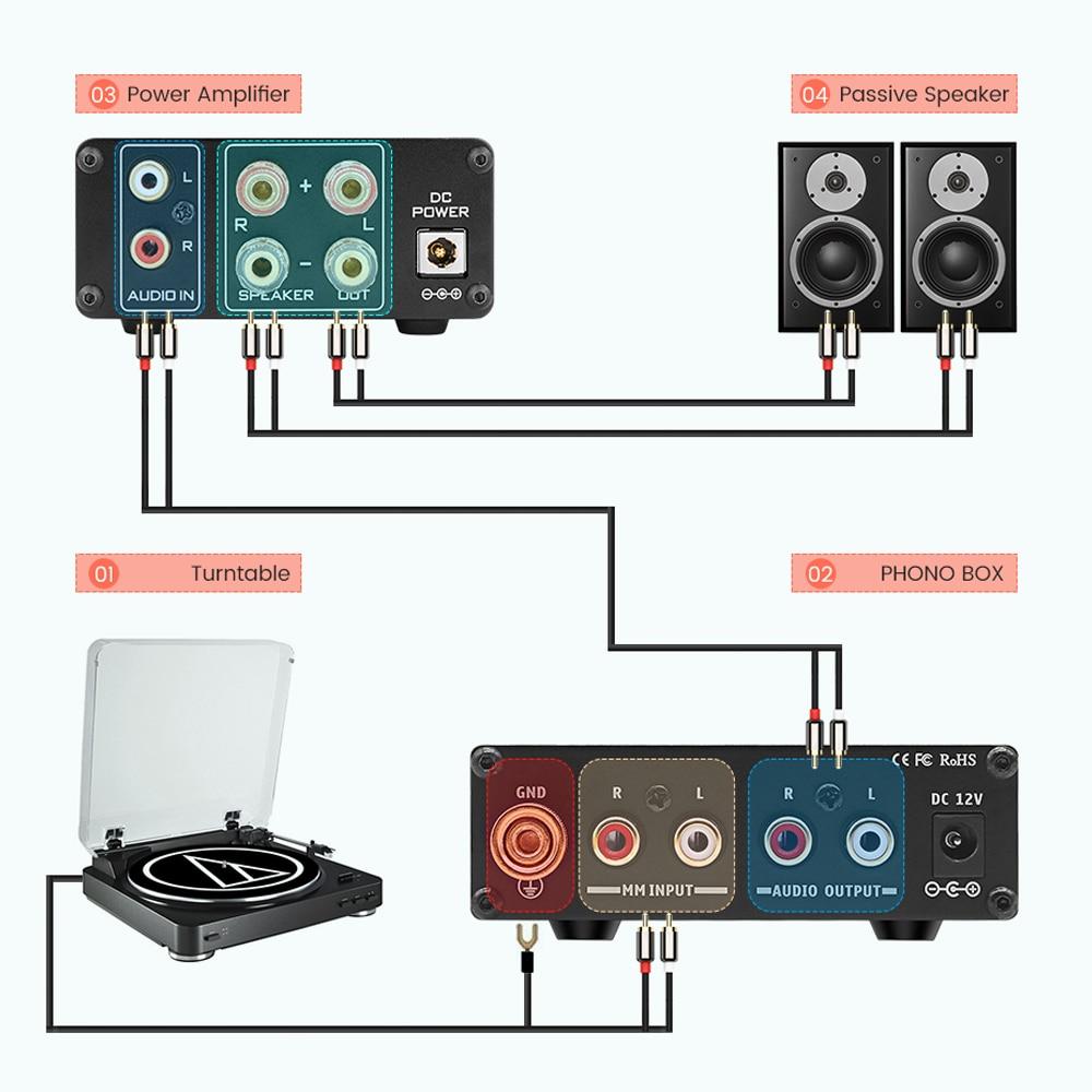 SUCA Phono MM préamplificateur LP lecteur de disque vinyle pour la maison Audio phonographe préampli platine vinyle amplificateur de son - 5