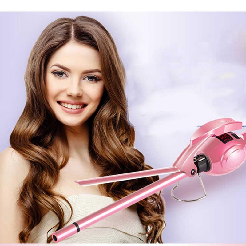 Kemei Профессиональные супер турмалиновые кудрявые волосы утюжок для завивки утюжок палочка Керамическая бочка маленькие тонкие щипцы для коротких и длинных