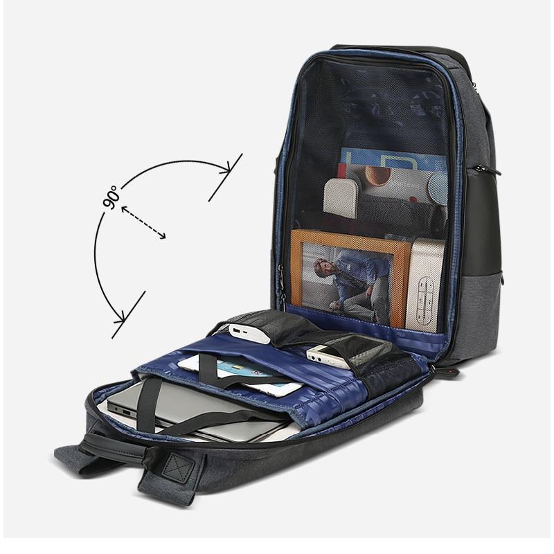 Mochila De Viaje Unisex para mujer, mochila de hombre, mochila de viaje de negocios, antirrobo, mochila grande para ordenador portátil de 17 pulgadas - 5