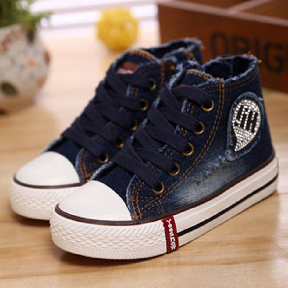 Boys Canvas Shoes 2017 New Style Children Sport Shoes Boy Kids Jeans