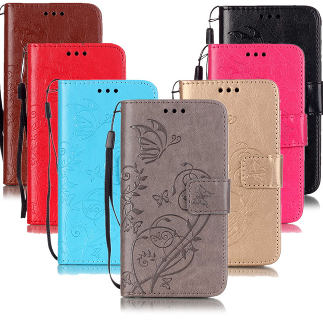 Leather Case Retro Printing Protective Card Slots Cover For Samsung Galaxy S6 Edge