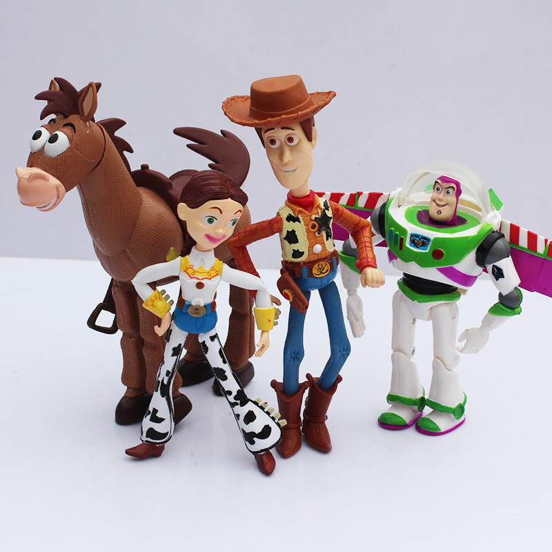 4pcs set toy story buzz lightyear woody jessie pvc action toy model dolls for children gift 14 - Cochon de toy story ...