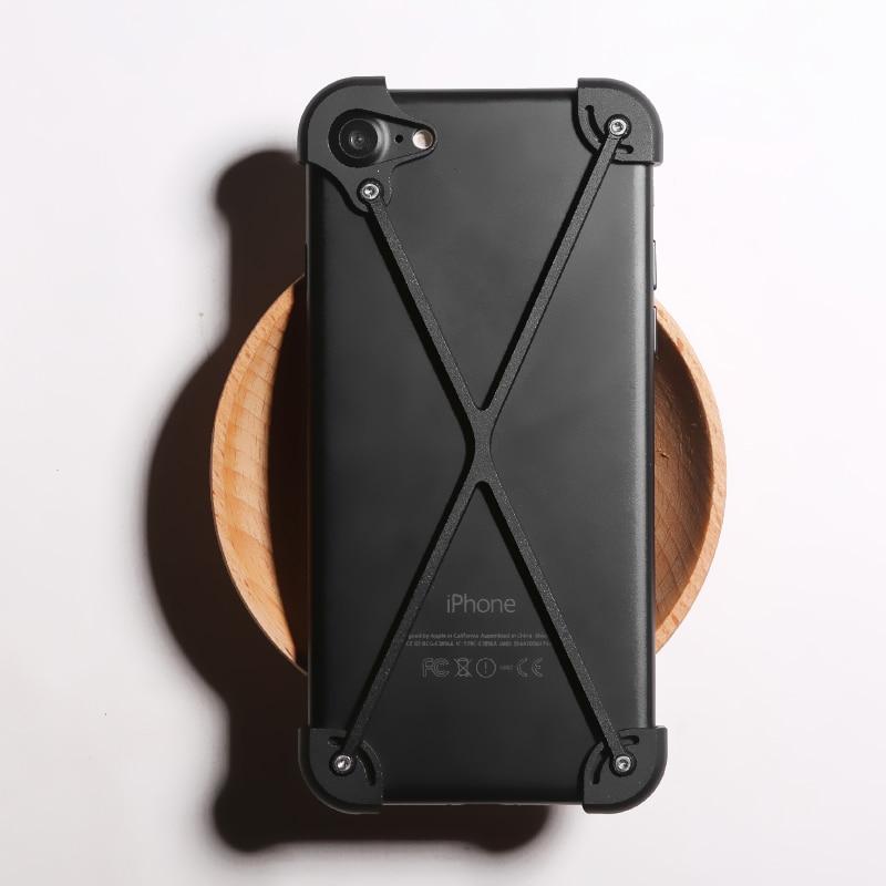 imágenes para D-parque se caen de metal de aluminio protector de parachoques del capítulo para iphone 7 case ultra thin light para iphone 7 plus case cubierta