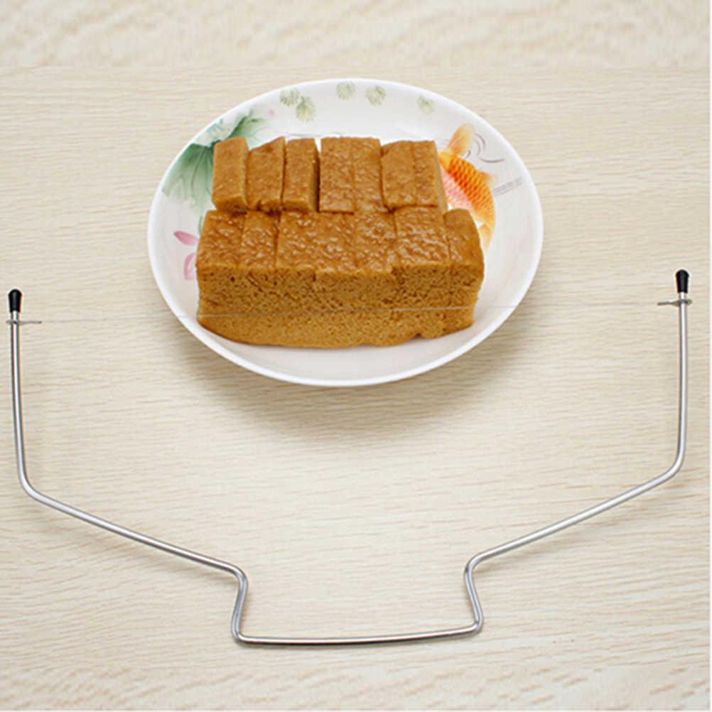 Hort de doble línea de herramientas ajustables para hornear pastel rebanador de pan cuerdas cuchillo jabón cuchillo DIY molde herramientas de pastel de acero inoxidable