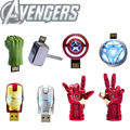 Garunk the avengers homem de ferro usb flash drive 4g 8g caneta unidade 16G 32G usb stick pendrive Hulk Thor Capitão América U disco