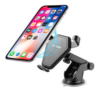 Qi Wireless Charger Dashboard Mount Air Vent Car Mount Holder for iPhone X 8 8 Plus Sam S8 S8 Plus Note 8 Fast Charging Holder