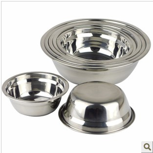 Thickening stainless steel bowl soup pots rice bowl fanpen bowls stainless steel bowl 14-26cm