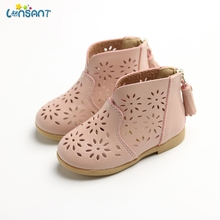 LONSANT New fashion Breathable Toddler Baby Boot Girl Summer Flower Shoes Kids Children Princess Girls Shoes