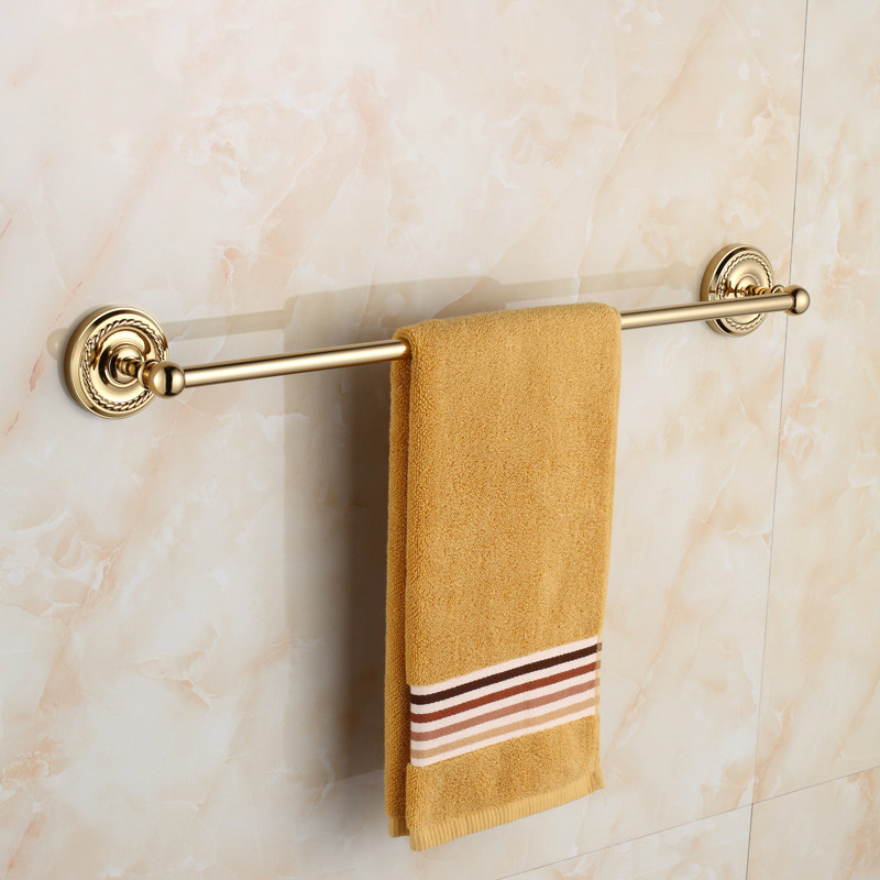 цены на Europe Antique Brass Towel Bar Towel Rail/Single rod Wall Mount Polished Chrome Bathroom Shelf Towel Rack Bathroom hardware hang в интернет-магазинах