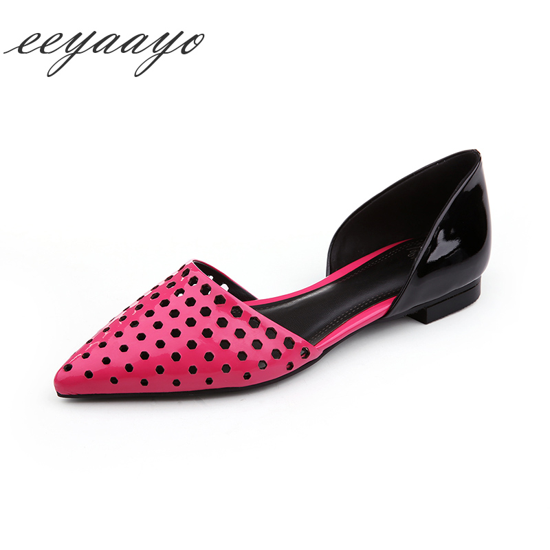 spring summer women genuine leather Red shoes pointed toe cow leather slip-on casual style ladies outdoor slide flated sandals cresfimix women cute spring summer slip on flat shoes with pearl female casual street flats lady fashion pointed toe shoes