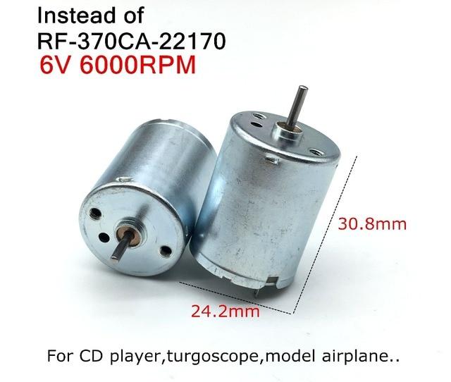 Instead of RF-370CA-22170 DC micro motor 3V-6V mute Motor,