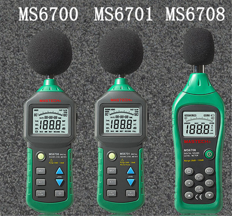 Здесь продается  Autoranging Digital Sound Level Meter Decibel Tester Noise Meter with RS232 Interface and Software,30dB to 130dB MASTECH MS6701  Инструменты