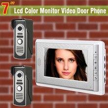 Cheaper 7 Inch Video Intercom Video Door Phone System waterproof night vision Camera Video Doorbell visual Intercom 2-Alloy Camera