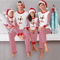 2pcs Family Christmas Dear Pajamas Matching Clothes Mother Father Baby Kids New Year Look Sets