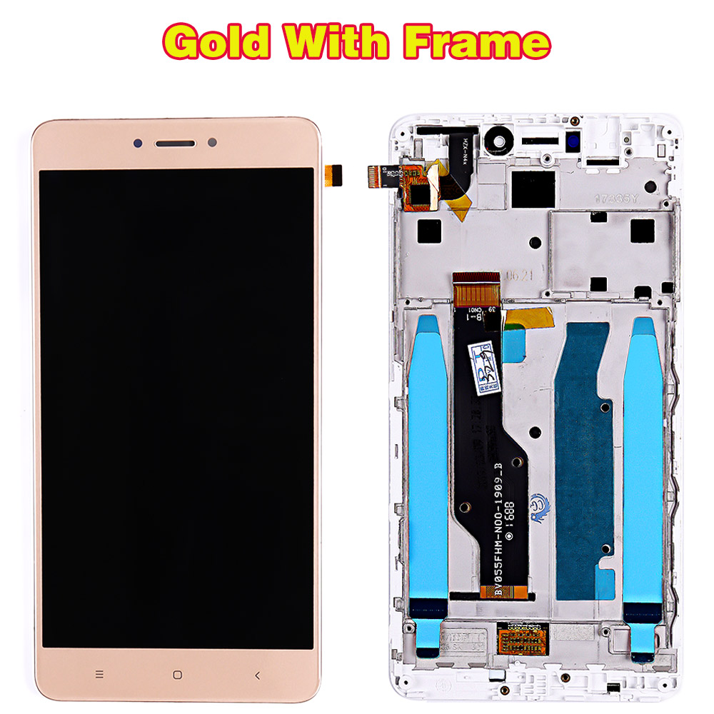 HTB1vu46PpzqK1RjSZFoq6zfcXXaC Lcd display for Xiaomi Redmi Note 4 Global / Note 4X (CPU:Snapdragon 625) touch screen digitizer Assembly Frame 10 Multi-Touch