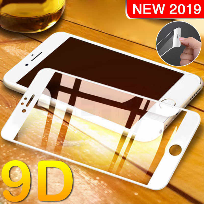 9D Full Curved Tempered Glass On The For iPhone 7 8 6 6S Plus X XS Max XR Screen Protector For iPhone 6 6S 7 8 Plus Glass Film