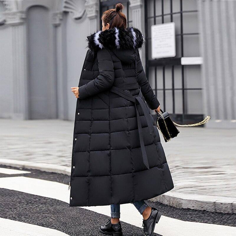 Nowe ciepłe jesień zima kurtki kobiety 2019 moda kobiety płaszcz gruby płaszcz z kapturem płaszcz zimowy szczupłe kobiety parka ciepłe kobiet dół kurtka w Parki od Odzież damska na  Grupa 1