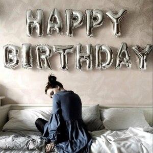 Image 2 - 16 インチハッピーバースデーホイルバルーン風船ベビー最初 1st 誕生日パーティーの装飾少年少女子供大人の誕生日ホオジロ装飾 1 年