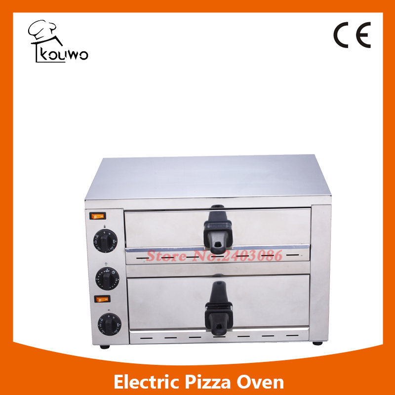 stainless steel baking machine double deck electric bread sandwich pizza oven for sale factory price pizza cone oven pizza cone machine pizza vending machines for sale