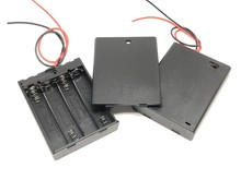 MasterFire 30pcs/lot 4 x 1.5V AAA Black Plastic Batteries Battery Holder Case Cover Storage Box w On/Off Switch