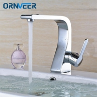 Stylish Elegant Bathroom Basin Faucet Brass Vessel Sink Water Tap Mixer Chrome Finish