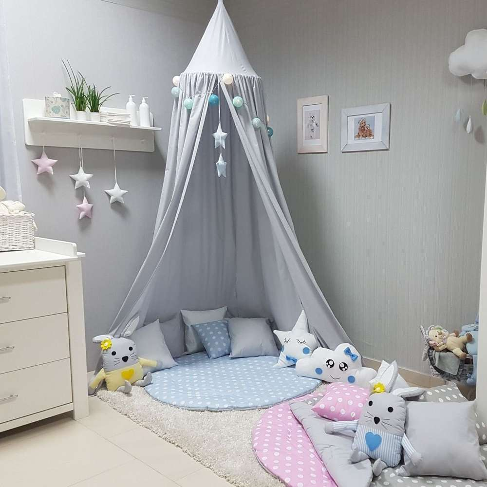 Bébé rideau de lit Enfants Princesse Fille Chambre Nordique Décoration Lit Compensation Tente Coton Accroché Dôme moustiquaire photographie Props