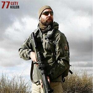 Brand Clothing Winter Shark Skin Military Windproof Tactical Softshell Jacket Men Waterproof Soft Shell Snake Camouflage Jacket