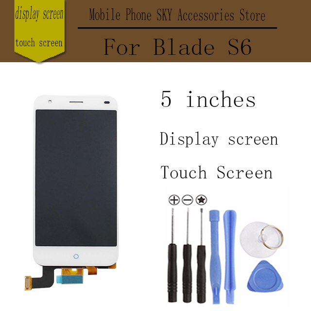 ZTE Blade S6 lcd display +Touch Screen 1280x720 HD 5.0inch Display Digitizer Glass Panel Assembly Replacement For ZTE S6