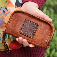 High quality Genuine Leather Car key wallet for women Key Case Wallet Luxury Gift For Men & Women Housekeeper Key Holder Key Bag