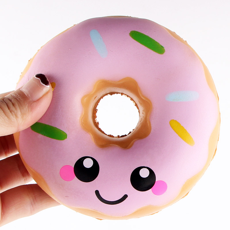 Squishy Donuts Kawaii : Jumbo Squishy Kawaii Colored Donuts Soft Slow Rising Pendant Phone Straps Stretchy Squeeze Kid ...
