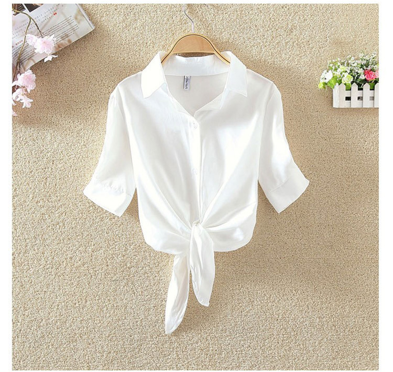 HTB1vu5ISXXXXXX7XXXXq6xXFXXXO - Women Shirts Korean Short Sleeve Flower Embroidery Clothes