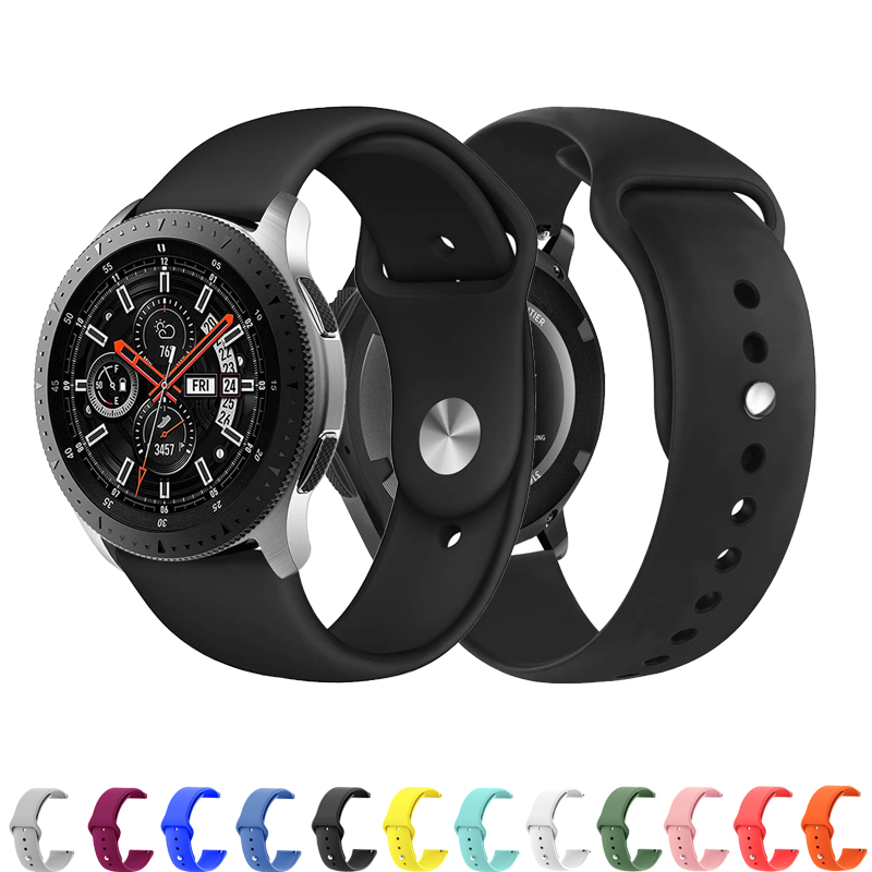 Huawei <font><b>watch</b></font> gt band für <font><b>Samsung</b></font> galaxy <font><b>watch</b></font> aktive 46mm 42mm getriebe S3 frontier/klassische <font><b>S2</b></font> strap silikon 22 mm/20mm armband image