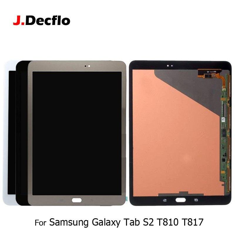 Для samsung Galaxy Tab S2 9,7 дюймов T810 T815 T819 T817 ЖК-дисплей Дисплей + 100% тестирование сенсорный дигитайзер Экран Стекло оригинальный