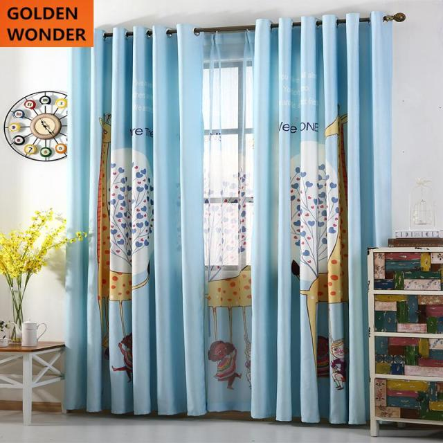 New Arrival Digital Printing Children Curtains Short For Living Room