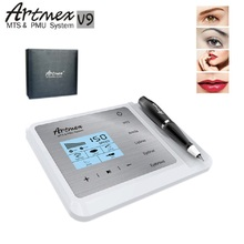 Najnowszy permanentny makijaż maszynka do tatuażu Artmex V9 Eye Brow Lip obrotowy długopis System MTS PMU z V9 igła do tatuażu
