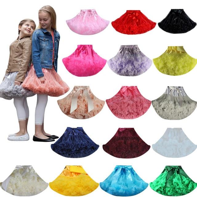 בנות טוטו חצאית פלאפי ילדי בלט ילדים Pettiskirt תינוקת חצאיות נסיכת טול המפלגה ריקוד חצאיות עבור בנות בגדים