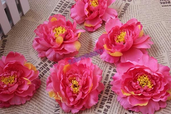 11cm handmade large silk peony flowers peony flower heads for diy silk flower