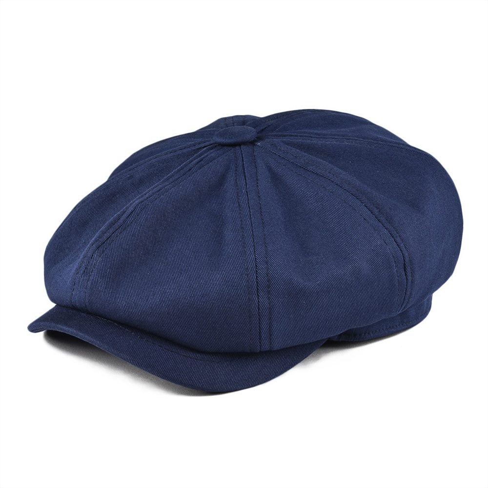 BOTVELA Newsboy Cap Men's Twill Cotton Navy Blue Hat Women's Baker Boy Caps Retro Big Large Hats Male Boina Apple Beret 003
