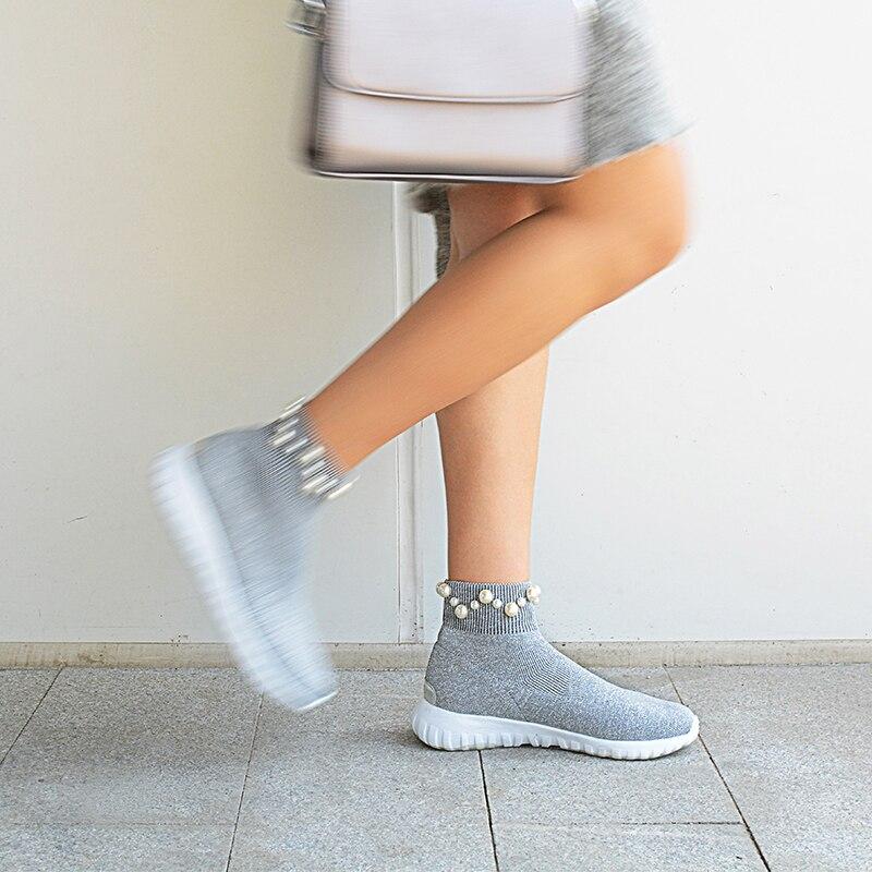 Plataforma plata La Primavera Mujeres Punta Negro Nueva Marca Zapatos 2018 Señoras Moda Planos Redonda De Casuales Punto Las T6r7Tf