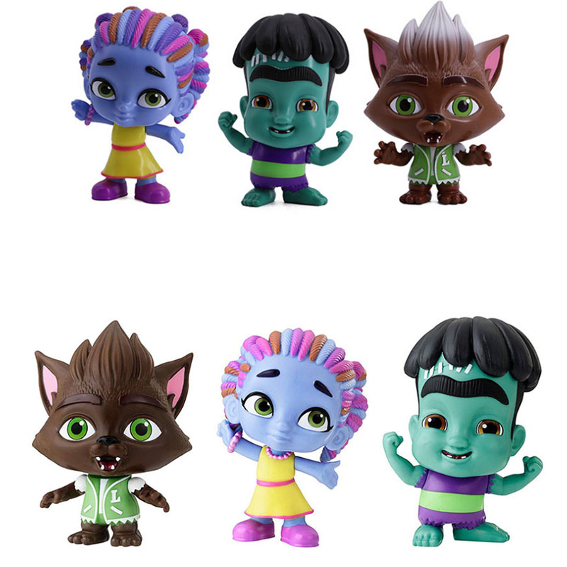 6pcs/set Monster Figures Toy Super Doll PVC Anime Action Figure Model Toys Doll