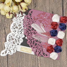 Leaves Lace Flowers Metal Cutting Dies for Scrapbooking Card Album Decoration making Frame